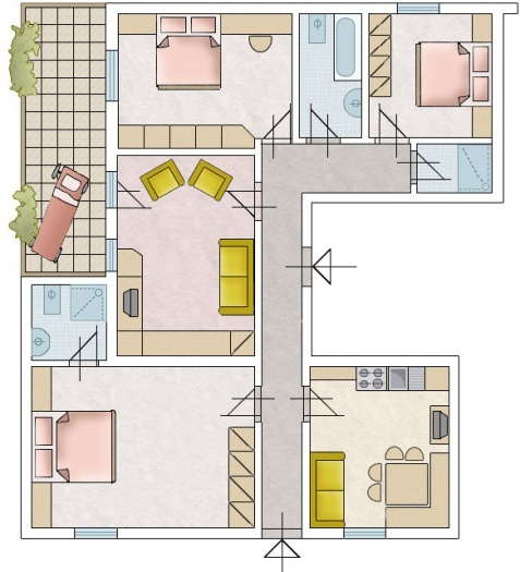 Map Apartments: Apartments Desmin Val Gardena